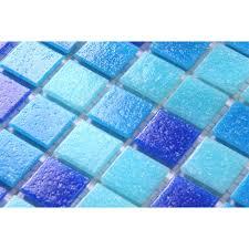 blue mosaic tile blue mosaic tile wall in bathroom