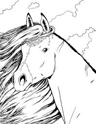 Horse Coloring Pages 27 See More Coloriage Portrait De Cheyenne Bella Sara