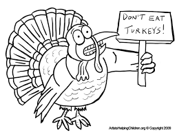 Thanksgiving Scared Turkeys Coloring Pages Printouts Afraid