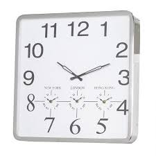Large Contemporary Steel Square Wall Clock