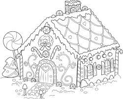 Coloring Page Gingerbread House