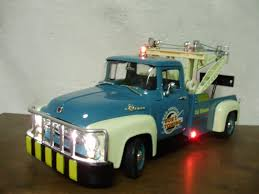 Custom 1 18 Scale 1956 Ford F 100 Diecast Tow Truck With Working ...