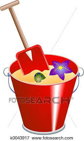 Stock Illustration Of Bucket And Spade K0043917