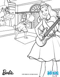 Tori Plays The Guitar Barbie Coloring Page More Princess Popstar