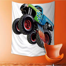 100 Monster Truck Decorations Amazoncom Auraisehome Wall Tapestry Coon