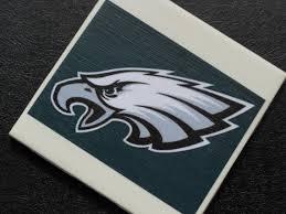 philadelphia eagles football team logo ceramic tile sports coaster