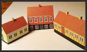Simple Svaneke House Paper Model Series 2 Free Templates Download