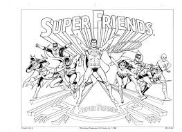 Interesting Idea Super Friends Coloring Pages Free Of