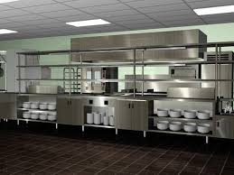 Enchanting Industrial Kitchen Ideas with Stainless Cabinet and