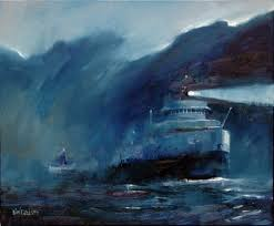 What Year Did The Edmund Fitzgerald Sank by Night Crossing Neil Davison U0027s Painting Depicts The Edmund