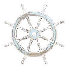 Sailboat Wheel Wall Decor by Buy Rustic Wooden White Light Blue Ship Wheel 24 Inch Nautical