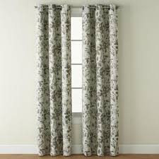 Kmart Curtain Rod Set jaclyn smith room darkening grommet curtain window panel leaf