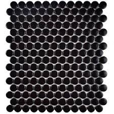 Home Depot Merola Penny Tile by Merola Tile Hudson Penny Round Matte Black 12 In X 12 5 8 In X 5