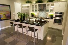 Eat Kitchen Decor Mounting White Cabinetry System Style Cabinets Chevron Pattern Black Marble Feats Glass Door