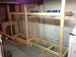 diy basement shelves in a day merrypad