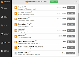 The Avast Store is full of paid for features but the software never pressures