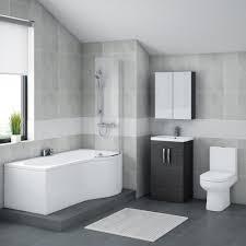 L Shaped Bathroom Vanity Unit by Brooklyn Hacienda Black Bathroom Suite With B Shaped Bath Online Now