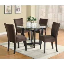 Coaster Bloomfield 5pc Round Dining Table Set In Cappuccino