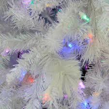 Prelit Christmas Tree Sets Itself Up by 7 5 U0027 Pre Lit Single Plug Medium White Iridescent Pine Artificial