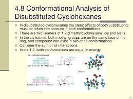 Cyclohexane Chair Conformation Flip by Ppt 4 Organic Compounds Cycloalkanes And Their Stereochemistry