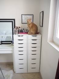 Desk Drawer Organizer Ikea by My Make Up Storage Vanity Bedroom Tour Expat Make Up Addict