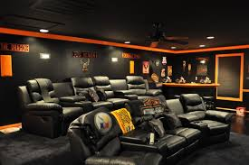 Harley Davidson Themed Theater Contemporary Home