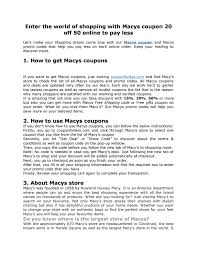 Macys Coupon 20 Off 50 Online To Pay Less By Saveoncoupon02 ... Macys Plans Store Closures Posts Encouraging Holiday Sales 15 Best Black Friday Deals For 2019 Coupons Shopping Promo Codes January 20 How Does Retailmenot Work Popsugar Smart Living At Ux Planet Code Discount Up To 80 Off Pinned March 15th Extra 30 Or Online Via The One Little Box Thats Costing You Big Dollars Ecommerce 2018 New Online Printable Coupon 20 50 Pay Less By Savecoupon02 Stop Search Leaks Once And For All Increase Coupon Off Purchase Of More Use Blkfri50
