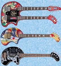 Fernandes Psychedelic Travel Guitars
