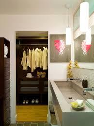 modern master bath and closet combination hgtv