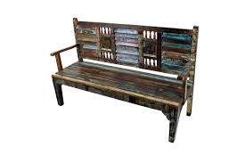 Mexicali Rustic Wood Bench Mexican Furniture Home Decor