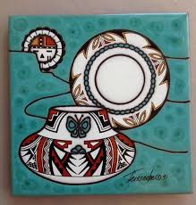 Ebay Decorative Wall Tiles by Details About Cleo Teissedre Designs Tile Trivet Coaster Wall