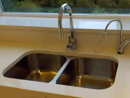 Installing Sink Strainer In Corian by This Customer Has Set The Bluci Rubus 3535u Into A Corian Type