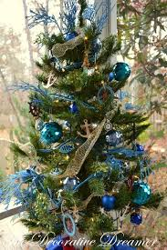 Nautical Christmas Tree On Porch