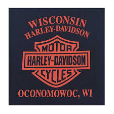 100 Harley Davidson Lounge Chair Mens Daring Ride Short Sleeve CrewNeck Tee Navy