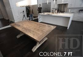 Reclaimed Solid Wood Farmhouse Table Grey Epoxy Finish Gerald Reinink 5