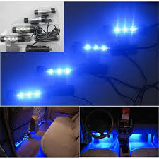 Universal Blue Light Car Interior LED Atmosphere Lamp 4 In 1 12V Decoration Floor For