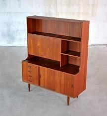 furniture mid century modern secretary desk with hutch and plenty