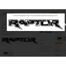 100 Ford Stickers For Trucks FORD RAPTOR SVT Truck Off Road 4x4 Side Bed Lettering Decals