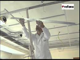 suspended ceiling tiles installation