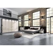 wiemann loft schlafzimmer 3türig havanna dekor glas magnolie