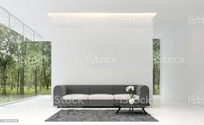 minimale wohnzimmer mit weißen hintergrundbild 3d rendering stockfoto und mehr bilder architektur