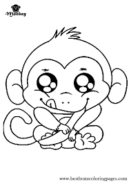 Monkeys Coloring Pages Cool Monkey For Kids Pics