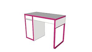 Ikea Micke Desk White by Ikea Micke Desk White Pink 3d Warehouse