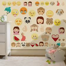 Bedrooms Vizmini Childrens Emoji Emoticons Wall Stickers Decals Nursery Boys Girls Kids Bedroo