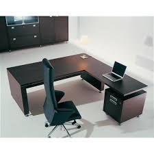 bureau en bois bureau direction bois plano avec retour mobilier de bureau
