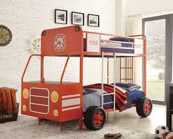 100 Fire Truck Loft Bed Engine One TwinTwin Bunk By Homelegance