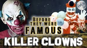Famous Halloween Characters Names by Killer Clowns Before They Were Famous Happy Halloween Youtube