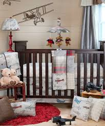 Airplane Baby Bedding Glenna Jean Airplane Crib Set