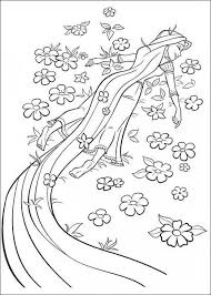 Print Coloring Disney Rapunzel Pages Free With