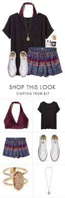 I Love Sleeping In Late By Victoriaann34 On Polyvore Featuring Hollister Co Brown Shorts OutfitCasual Jeans Outfit SummerBralette